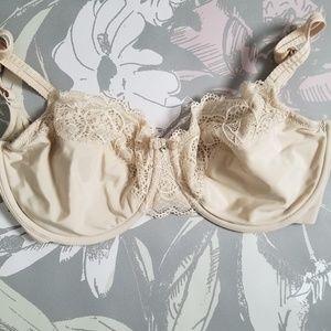 Bali 32DDD cream  lace bra
